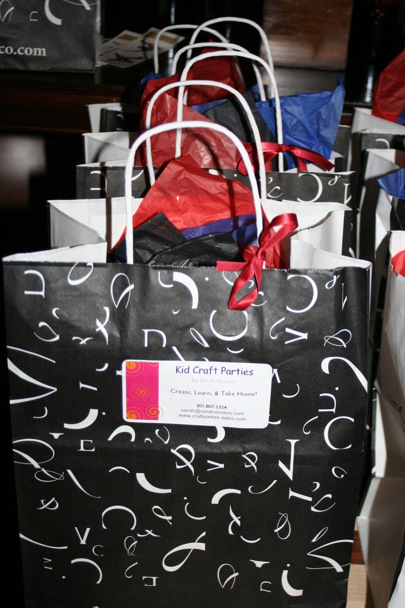 Goody Bags were provided by the retaurant