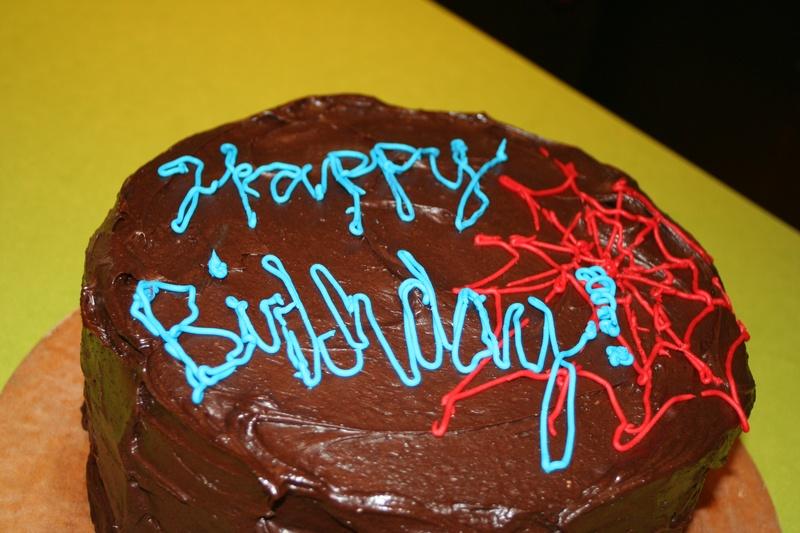 Spiderman Cake!!! - Chocolate